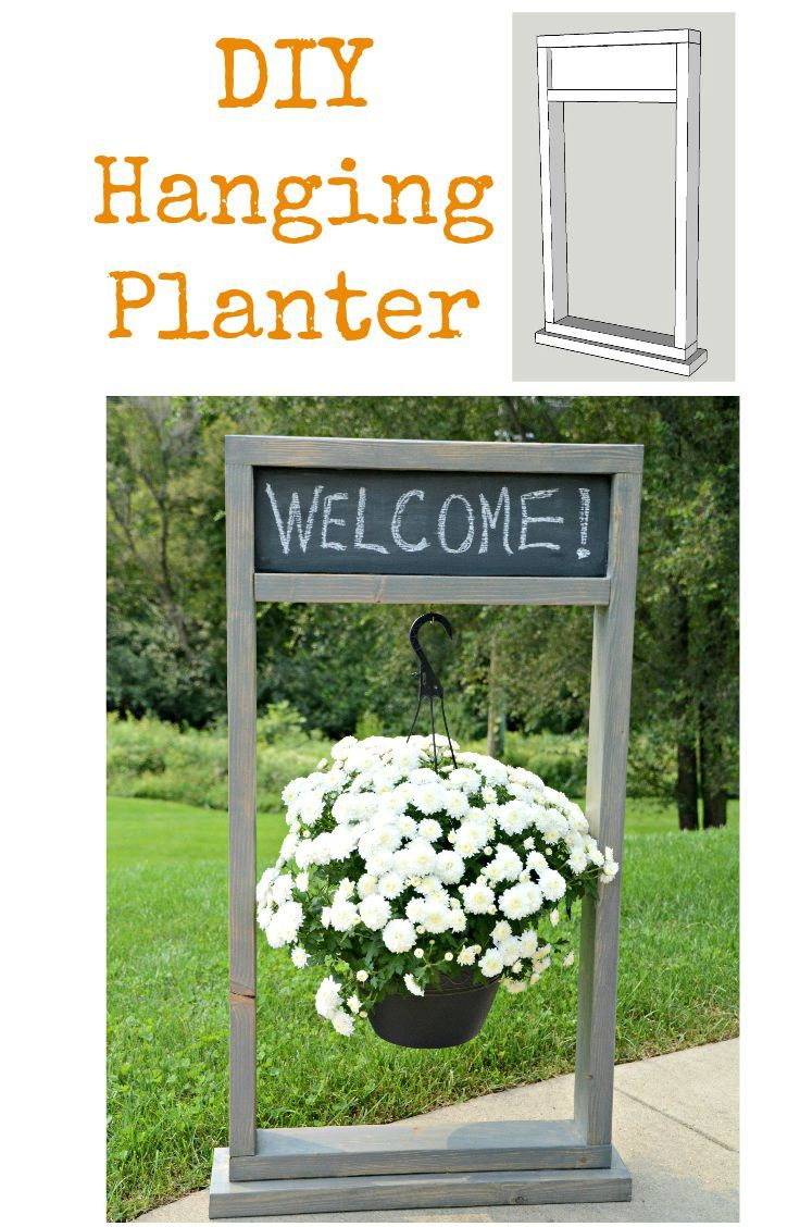 How to Build a Fall Hanging Planter {The Home Depot DIY Workshop ...