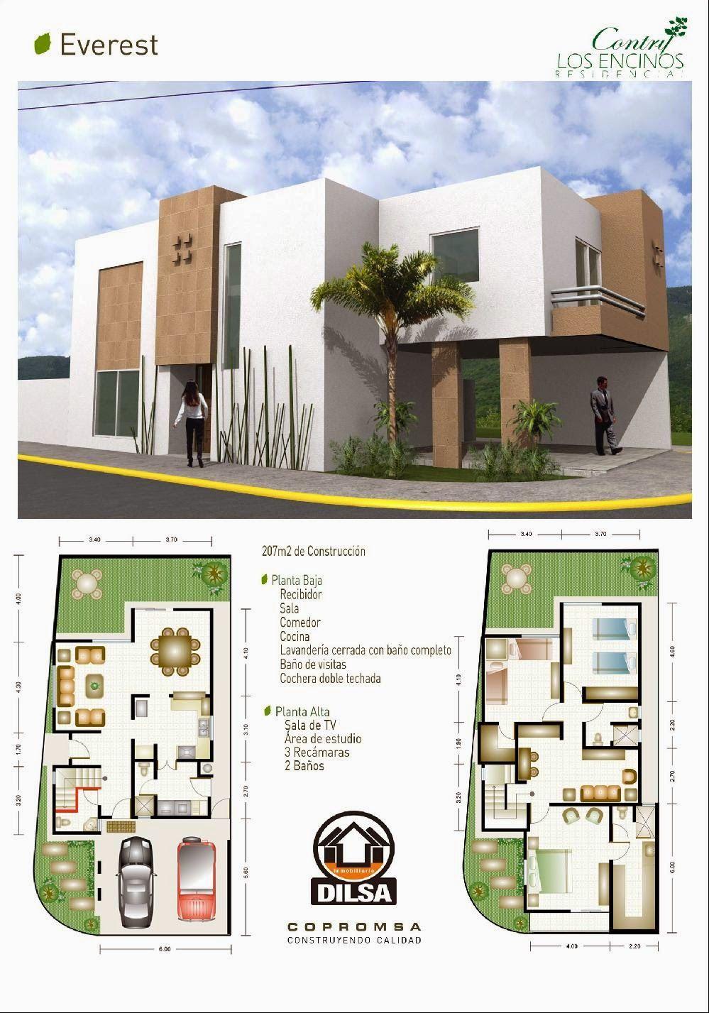 Planos de casas y plantas arquitect nicas de casas y for Planos arquitectonicos de casas de dos plantas pdf