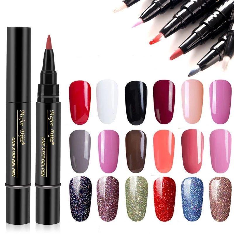 18 Colors Nail Polish Pen Gel Nail Varnish Pen Uv Nail Art Gel Lacquer Beauty Care 18 Colors Nail Polish Pen Gel Nail Varnish Pen Uv Nail Art Gel