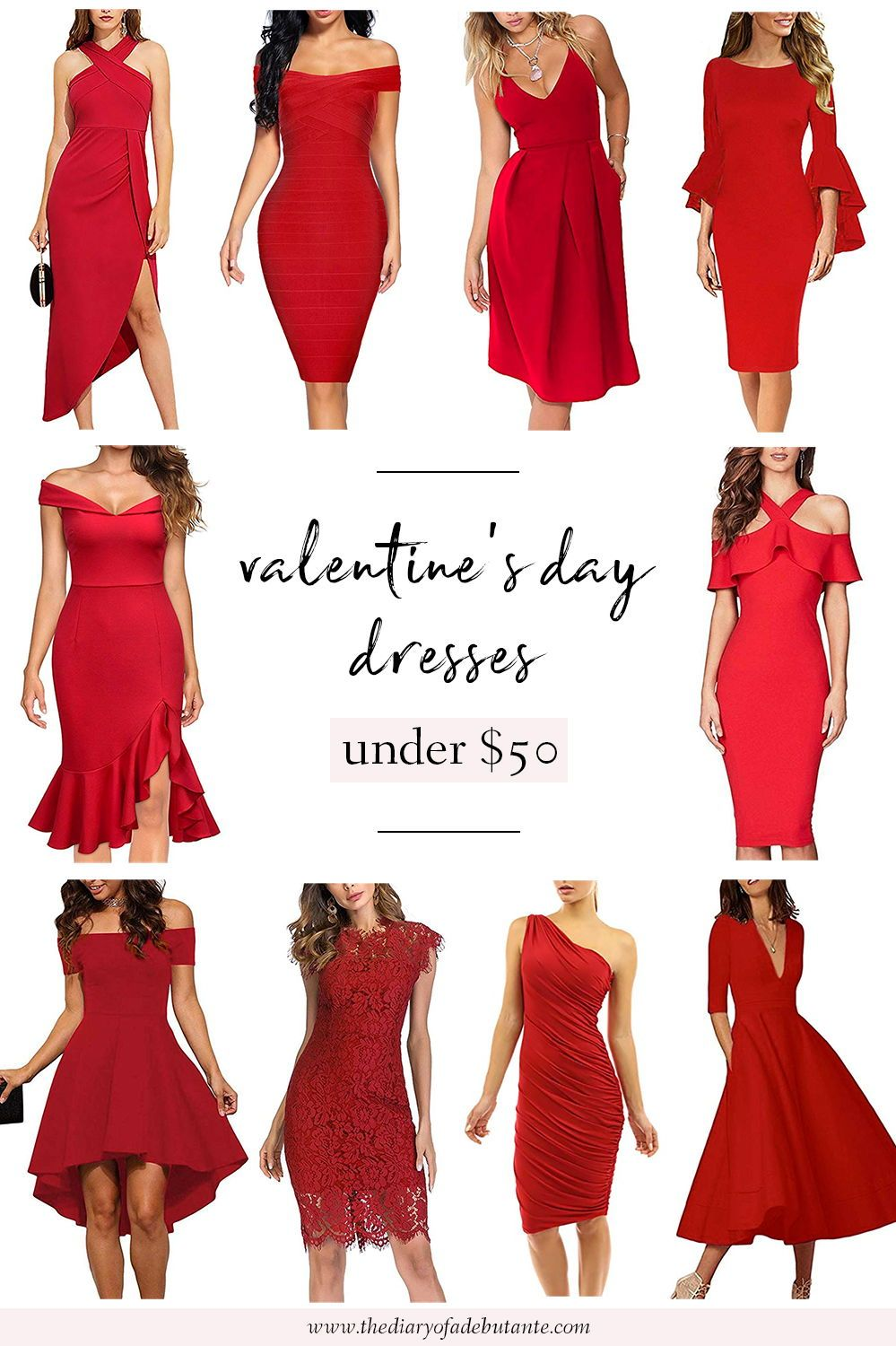 Pink and Red Valentines Day Dresses under 8  Diary of a