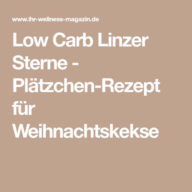 Low Carb Linzer Sterne - Plätzchen-Rezept für Weihnachtskekse