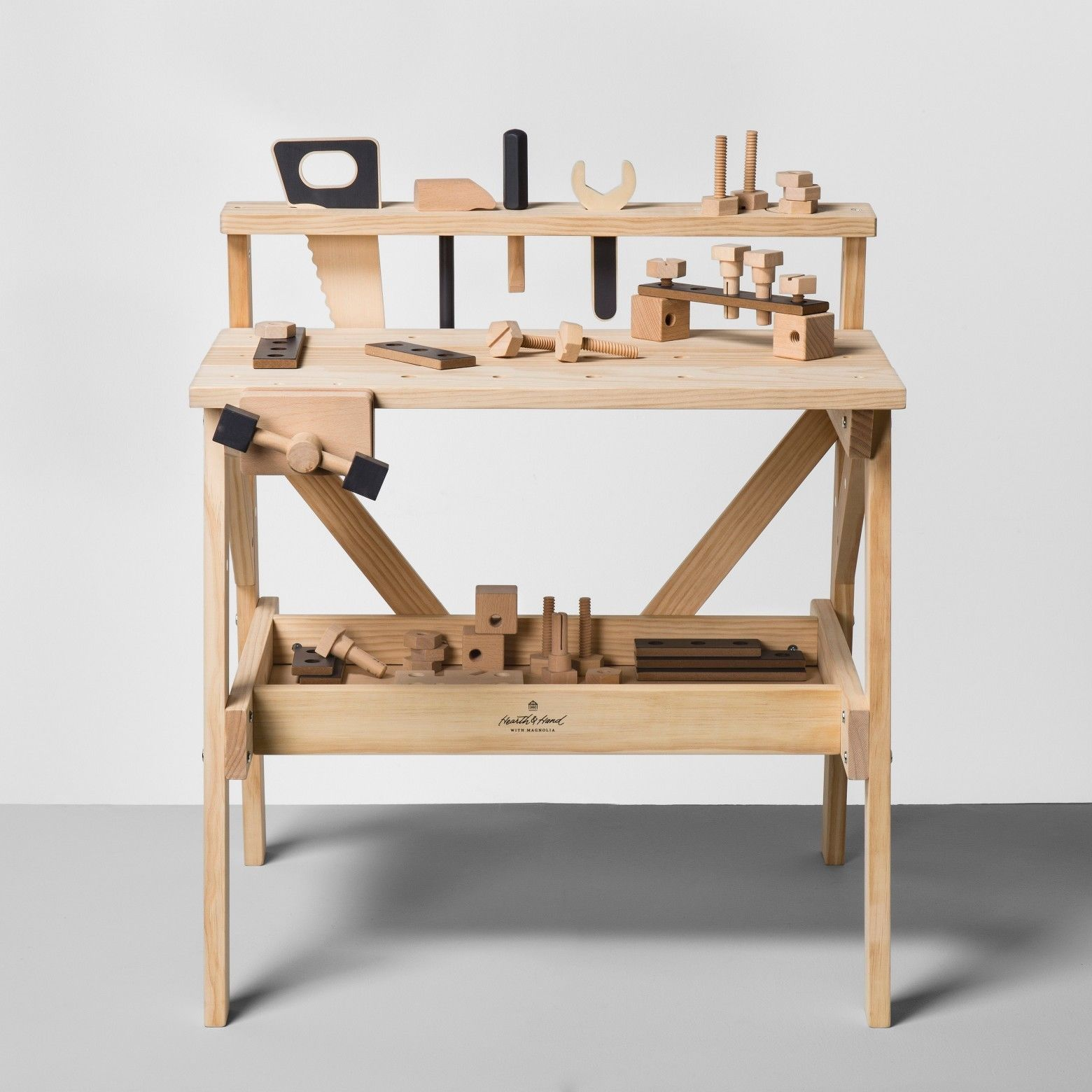 Wooden Toy Tool Bench 38pc Hearth Hand With Magnolia Ebay Tool Bench Hearth Hand With Magnolia Wooden Toys