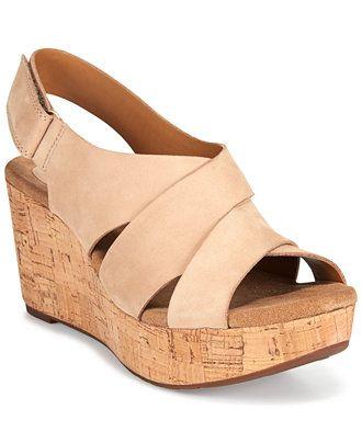 f40785092b50 Clarks Artisan Women s Caslynn Diem Wedge Sandals - Sandals - Shoes - Macy s