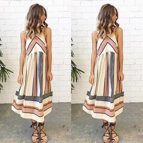3e4eb2f932d 2018 New Arrive Women Lady Summer Dress Clothing Sleeveless Beach Casual  Party Dress Vestidos S-5XL - serenityboutique