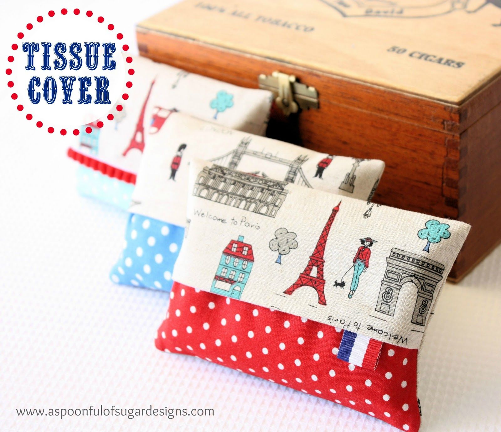 Make your own fabric tissue covers using our free sewing tutorial ...
