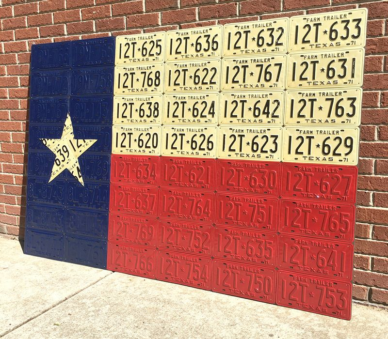 Ten Things You Ll Be Amazed To See Are Made Entirely Using Recycled Vintage License Plates Featured Texas License Plate License Plate Decor Recycled Vintage