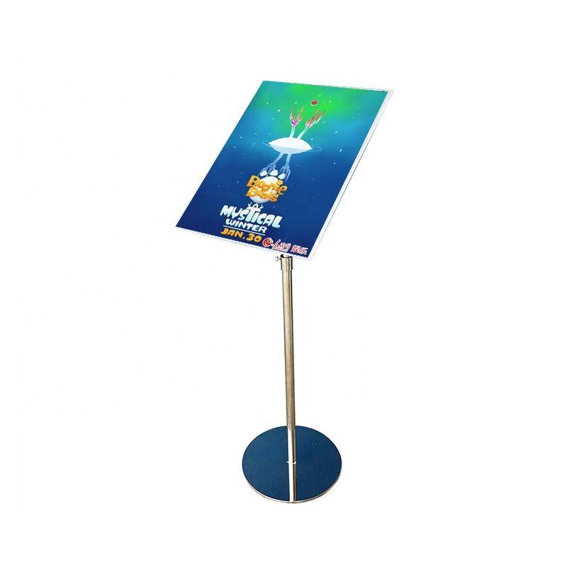 A4 Poster Stand Adjustable Floor Standing Metal Sign Holder Menu