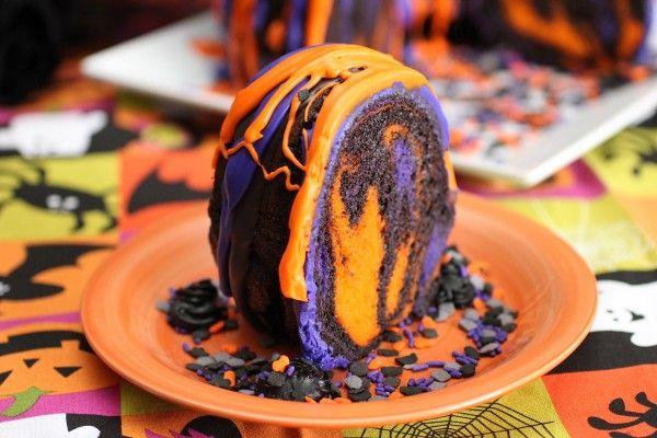 Amazing Halloween Rainbow Party Bundt Cake Recipe- Cooking w/Sugar