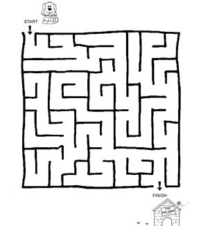 Lot of easy mazes for kids. Great for the first mazes