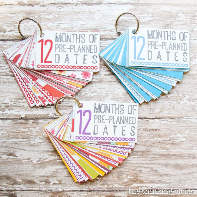 12 Months of PrePlanned Dates Creative Wedding Gift Idea