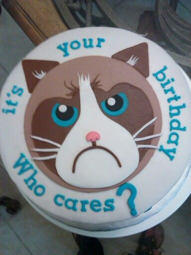 Grumpy Cat Cake With Images Grumpy Cat Cakes Cat Cake