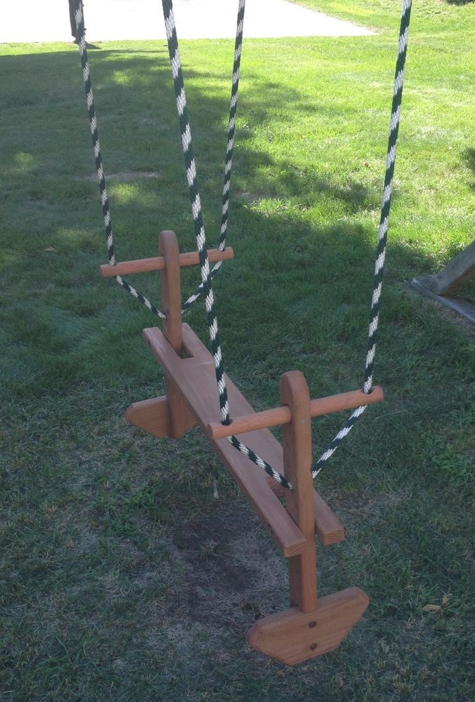 Swingset Back To Back Wooden Glider Swing Play Set Double Glider