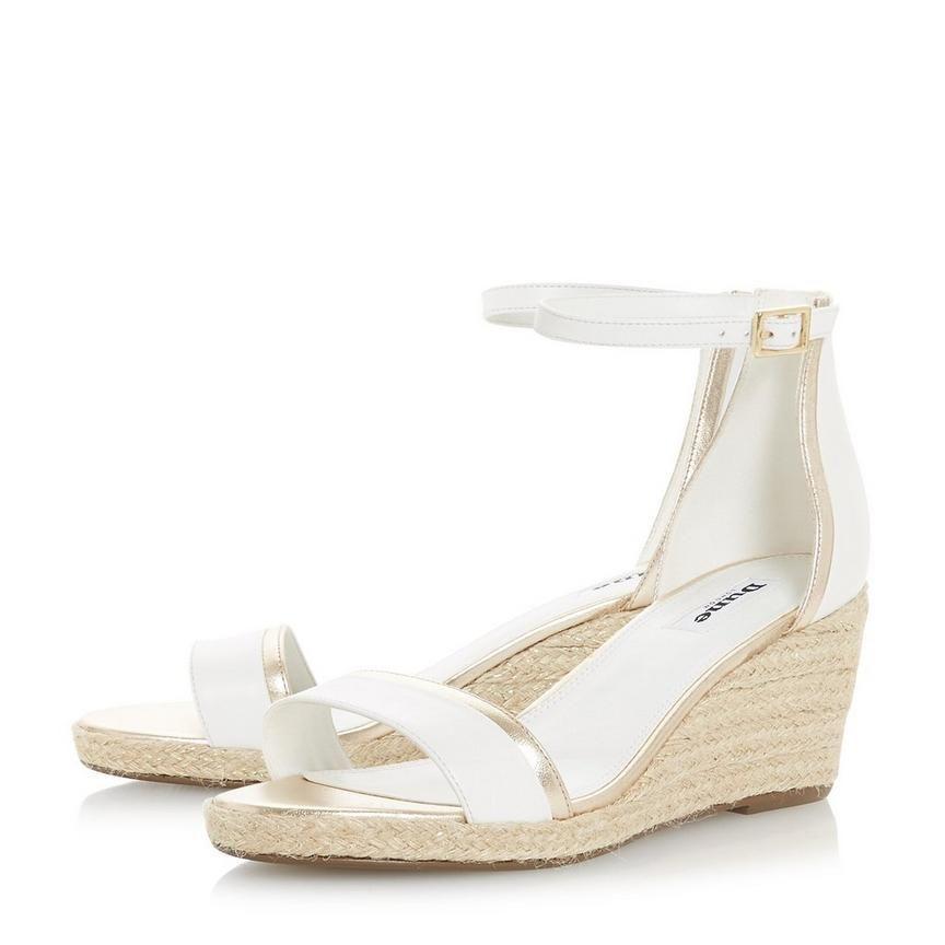 0dd21c587e47 KLARICE - Espadrille Mid-Wedge Sandal - white