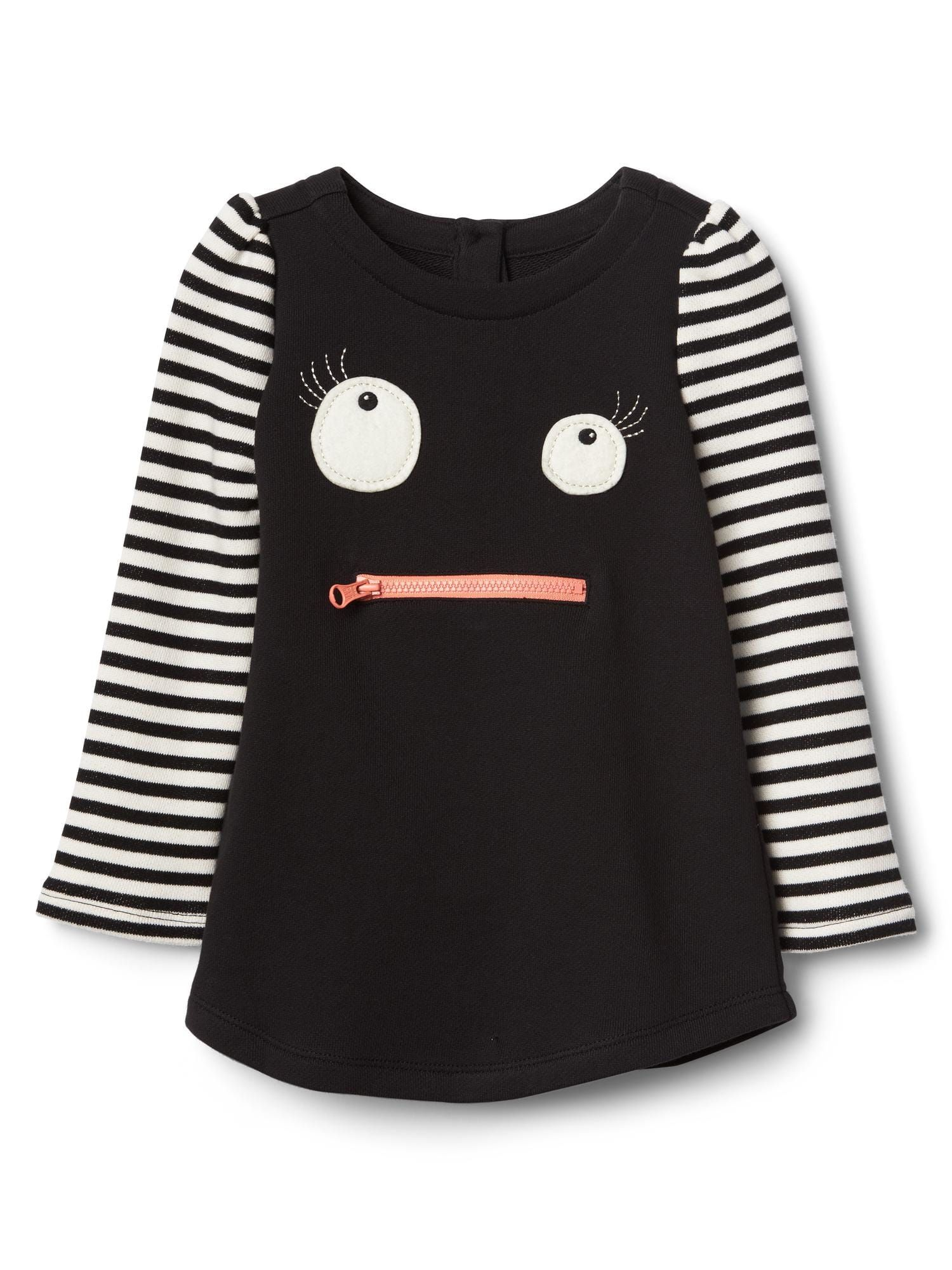 halloween monster stripe dress $34.95 | gap halloween 2017