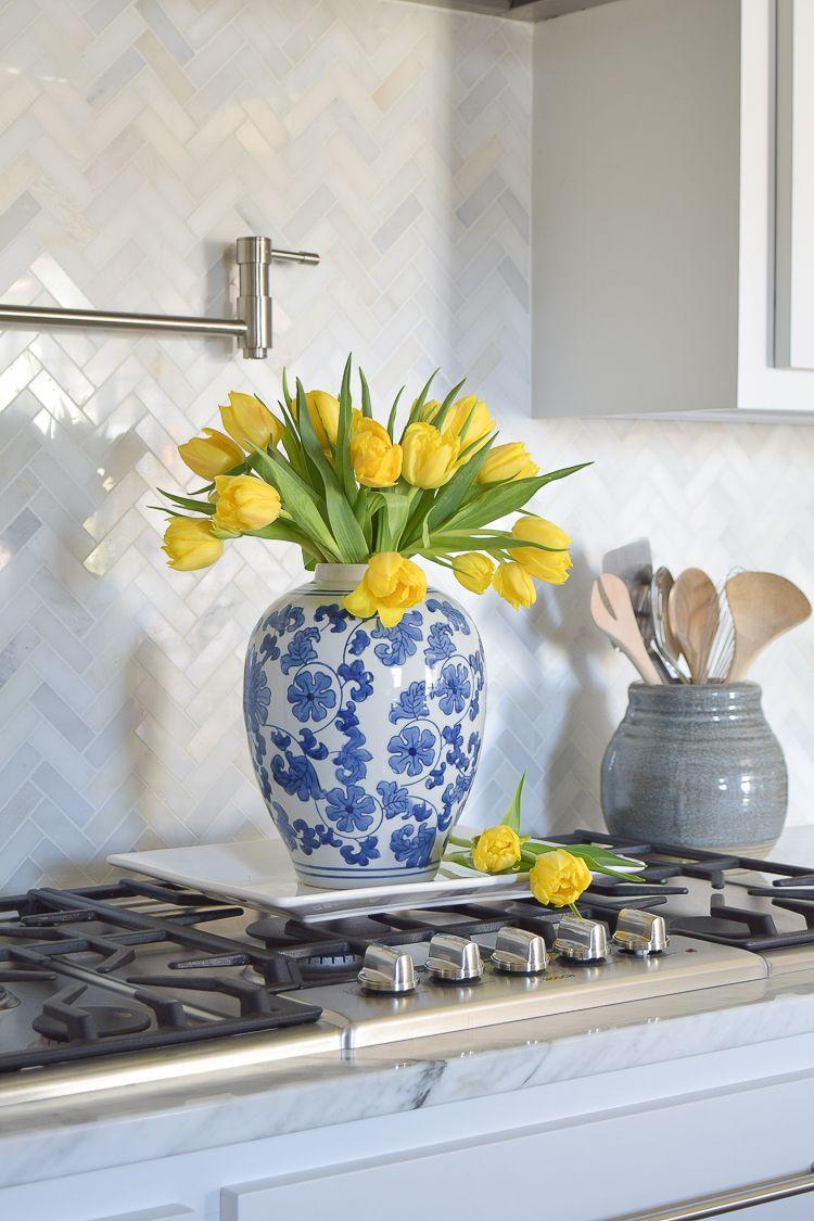 Blue Carrara Marble Tile Bathroom