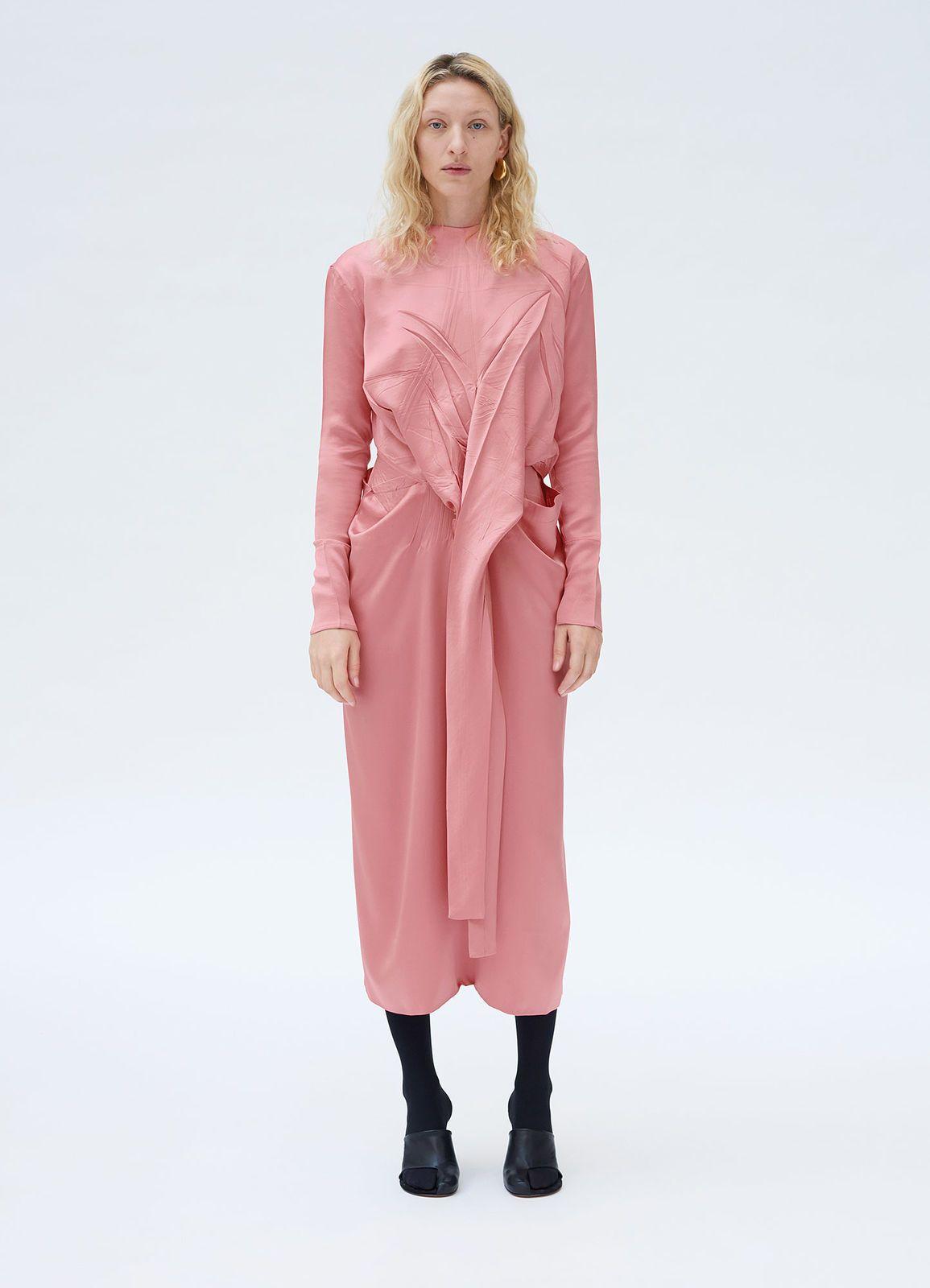 c58dc45f27156 Belted dress in satin crepe | CÉLINE | Brian's Shop | Belted dress ...