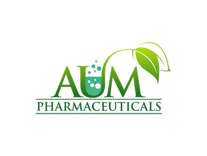 Medical logo design for AUM Pharmaceuticals Superb leaf and a test ...