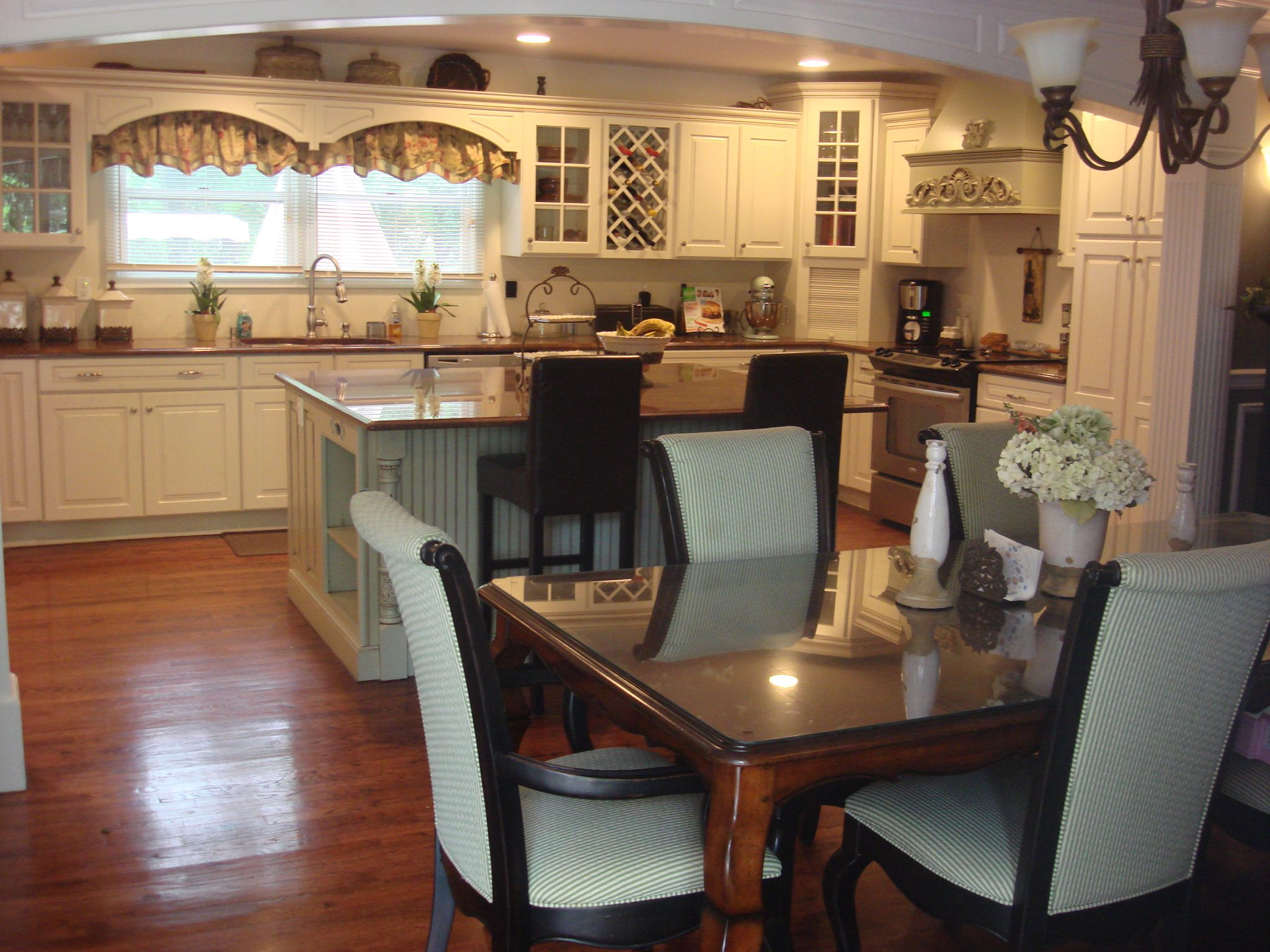 our kitchen with attached dining room kitchen pinterest