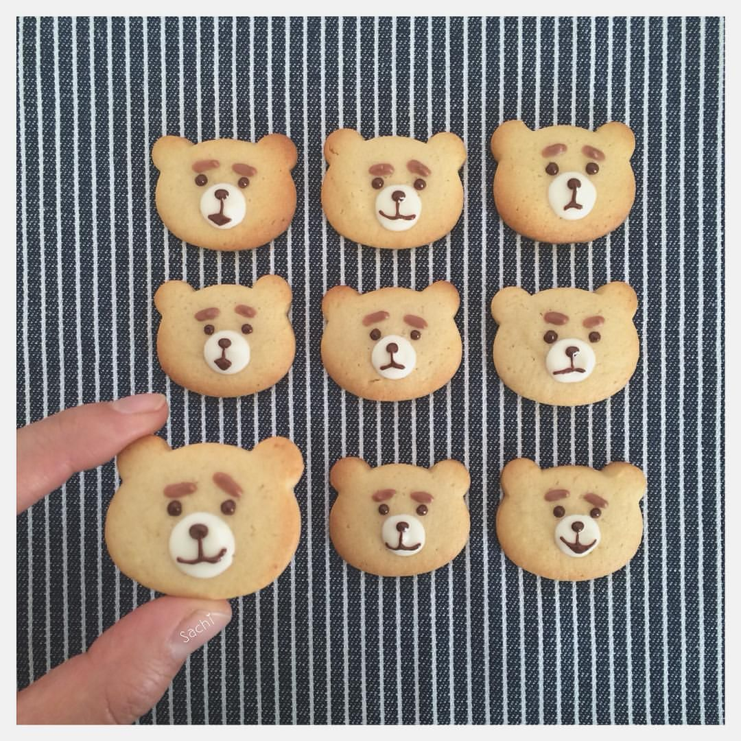 チョコペン要らず Sachiさん考案 デコアイデア が画期的すぎる Macaroni 可愛い クッキー クッキー キャラ クッキー かわいい