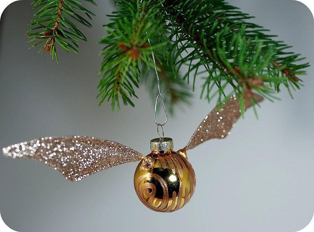 Snitch Ornament   34 Creative DIY Christmas Ornaments   POPSUGAR Smart Living