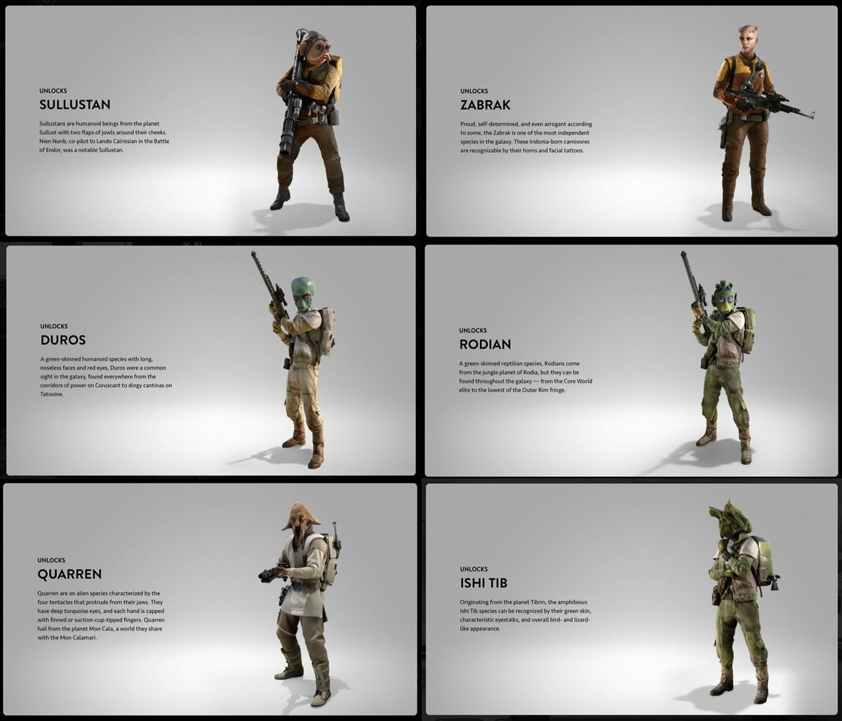 Star Wars Battlefront Humanoid Alien Races Star Wars Star Wars