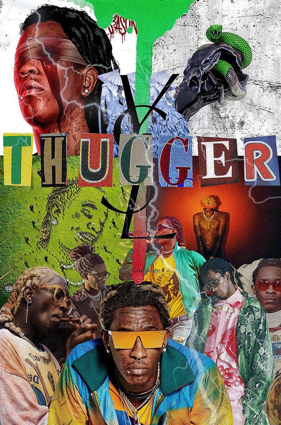 Young Thug Collage Young Thug Travis Scott Wallpapers Thug