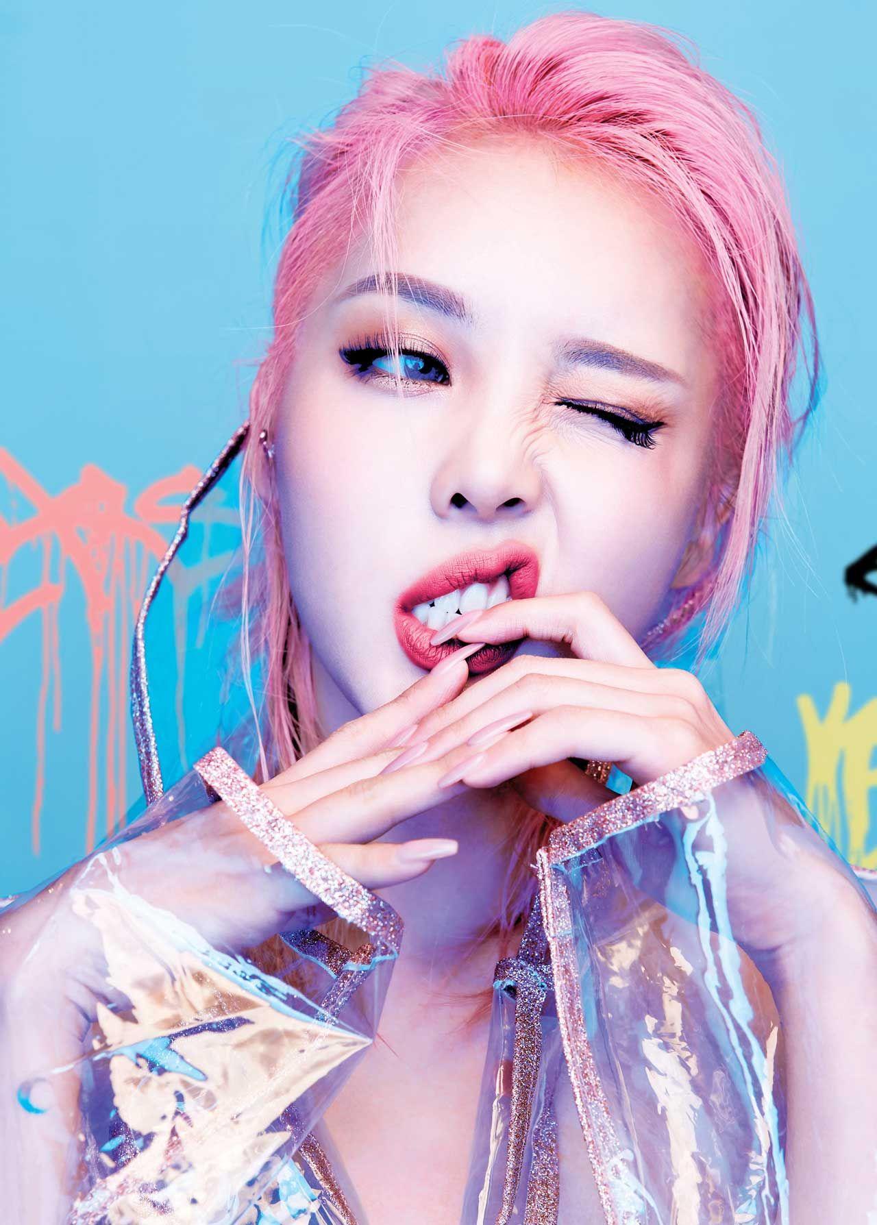 Bright color makeup Coreana