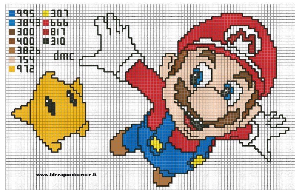 Mario bros cross stitch | Mario | Pinterest | Punto de cruz, Mario y ...