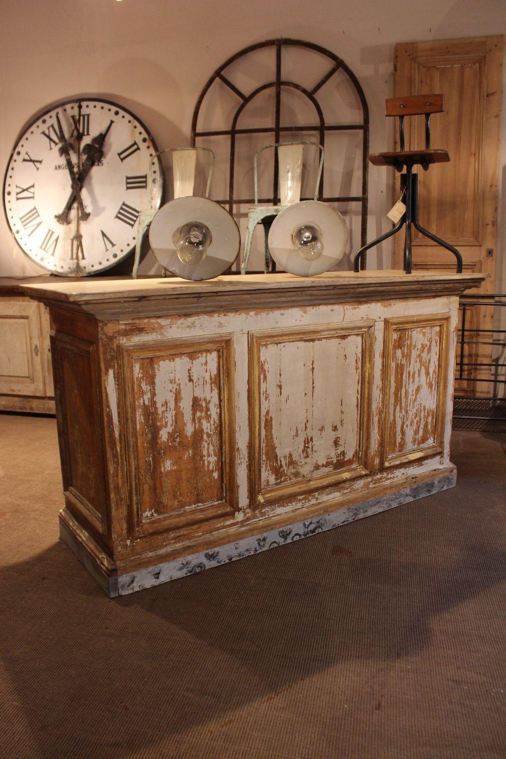 Mobilier industriel ancien comptoir de commerce ma - Deco meuble ancien ...