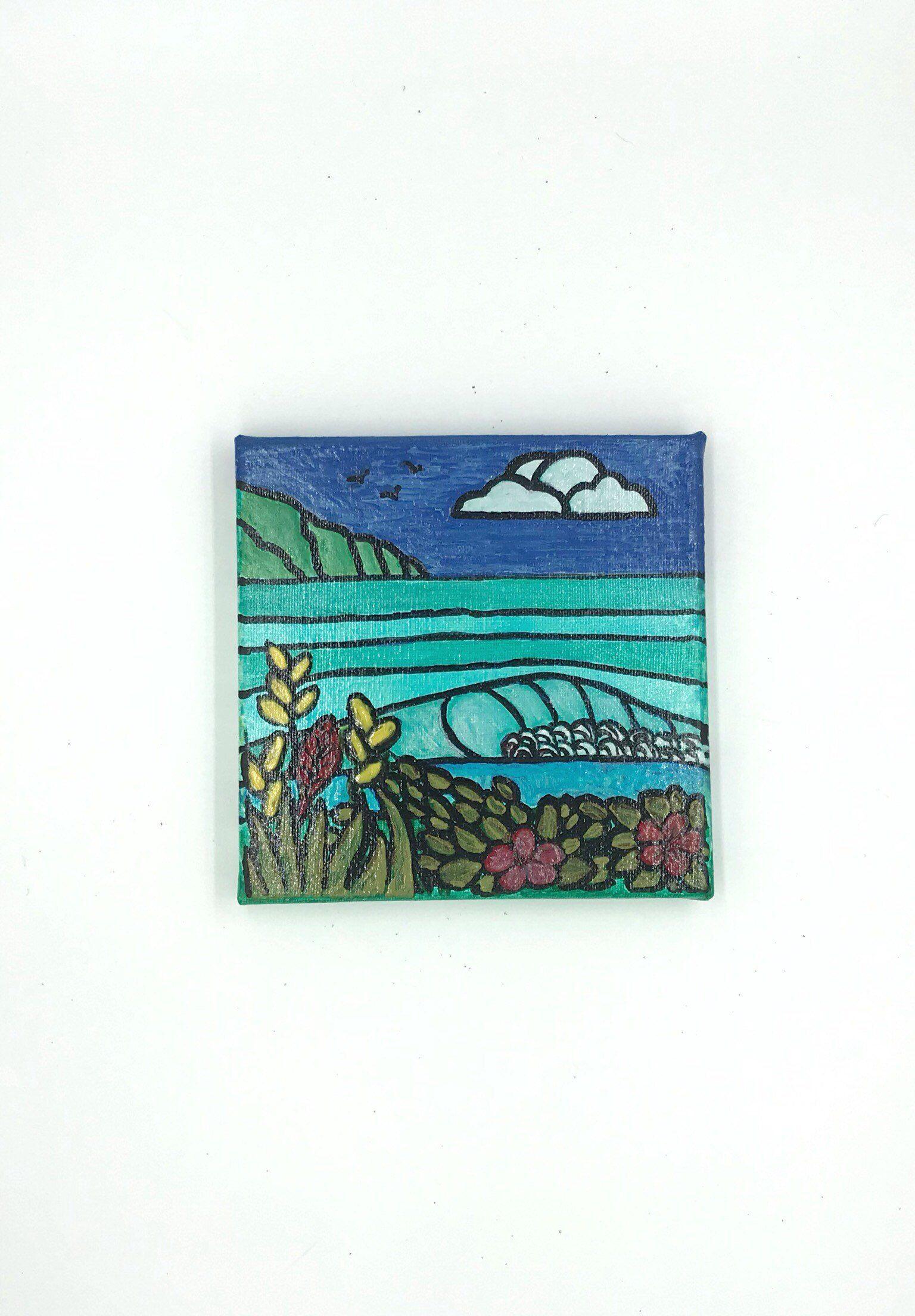 Maui Scenic Painting Maui Canvas Sea Art Surf Art Ocean Etsy Surf Art Sea Art Ocean Painting