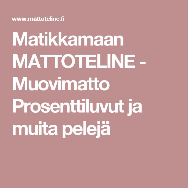 Matikkamaan MATTOTELINE - Muovimatto  Prosenttiluvut ja muita pelejä