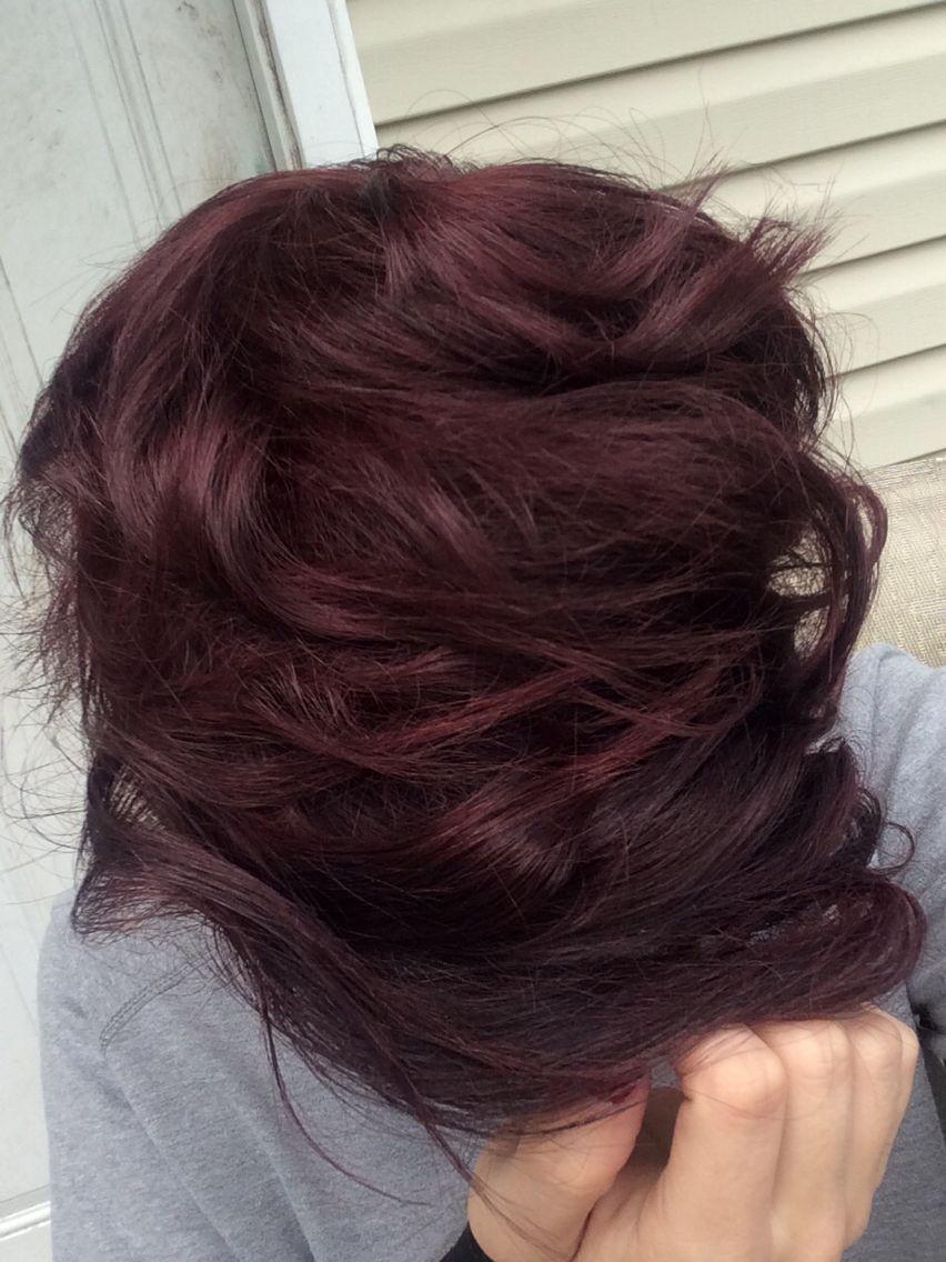 Dark Brown Hair Dyed Auburn