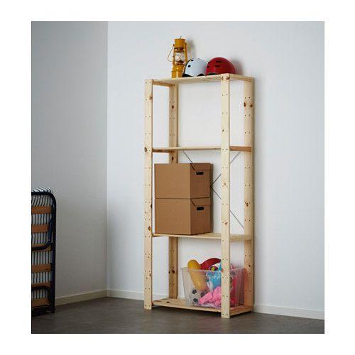 HEJNE 1 sección, madera conífera € 24 390.314.11 Ancho: 78 cm fondo: 31 cm Altura: 171 cm