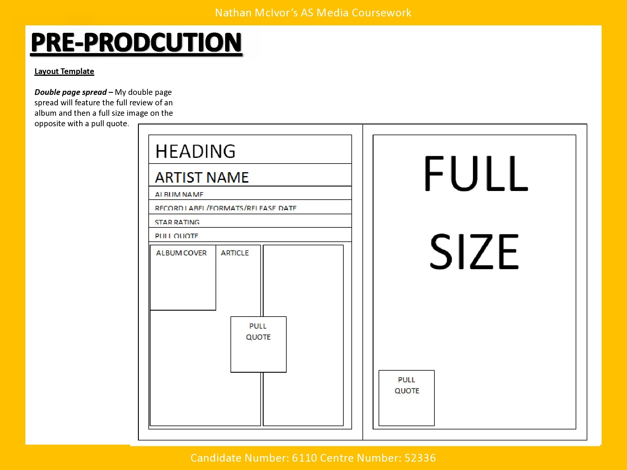 Media  Music Magazine  Pre Production  Layout Template  Layout