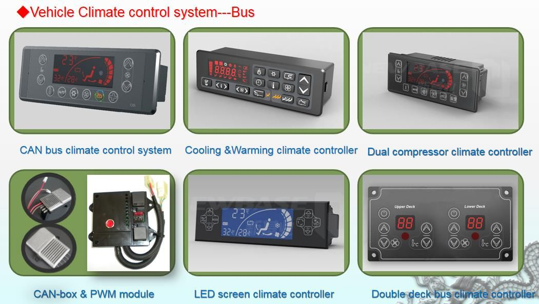 Bus Climate Can Control System Bus Hvac Control Panel Ac