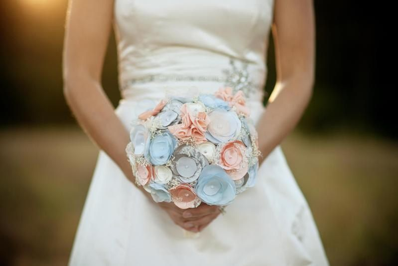Fabric Flower Bridal Bouquet - DIY Wedding. $180.00, via Etsy ...