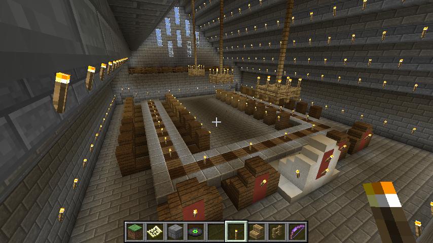 sky castle - 4 the royal dining room: | minecraft ideas