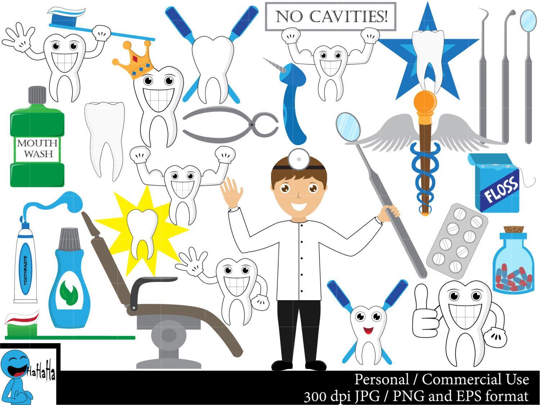Im 225 Genes De Dentista Set Gr 225 Fico Digital Clip Arte