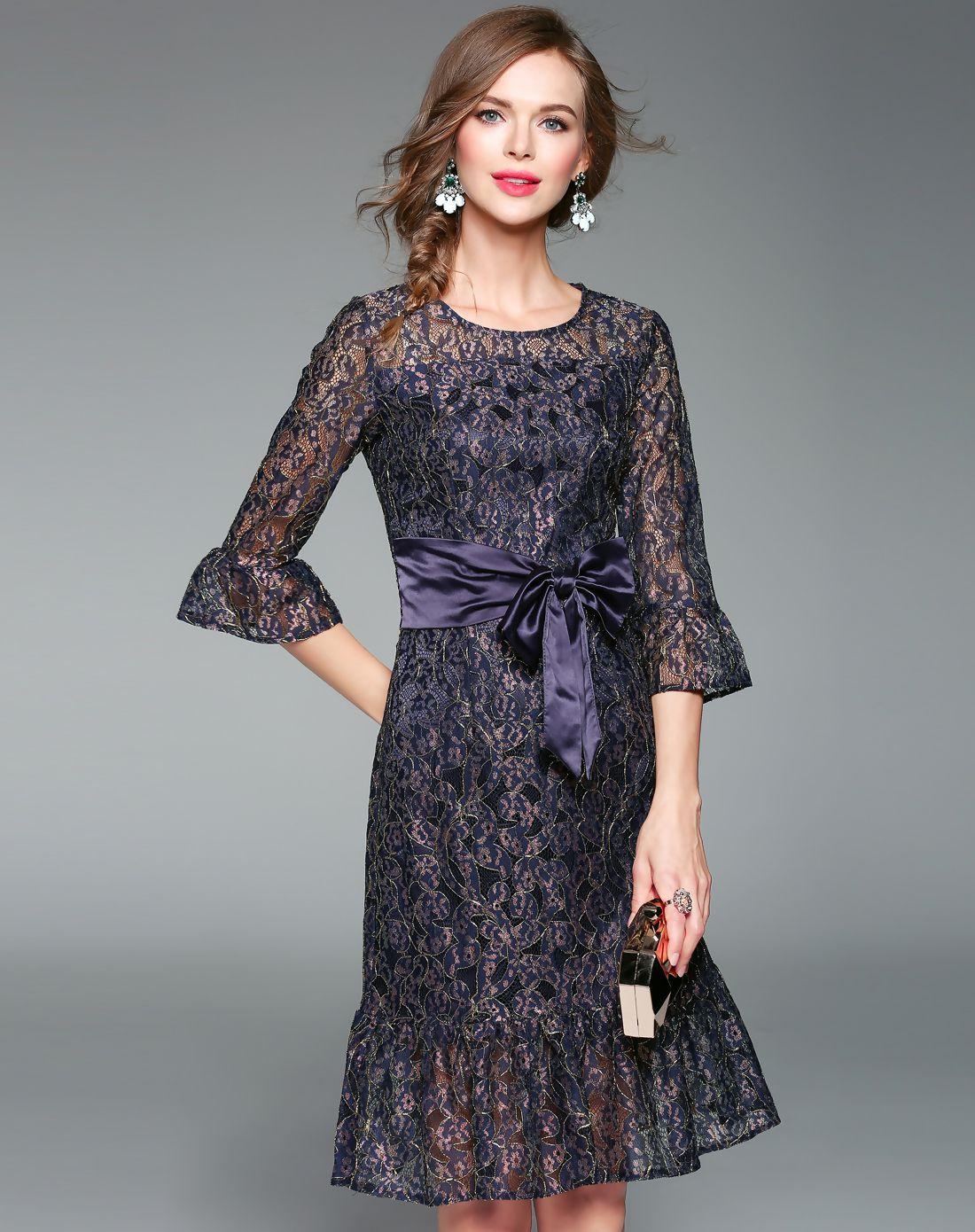 Adorewe vipme skater dressesdesigner zeraco purple lace bell