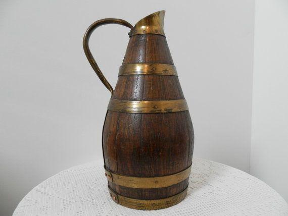 Antique French Art Nouveau Cider or Calvados Jug. Arts and Crafts Pitcher. 1900…