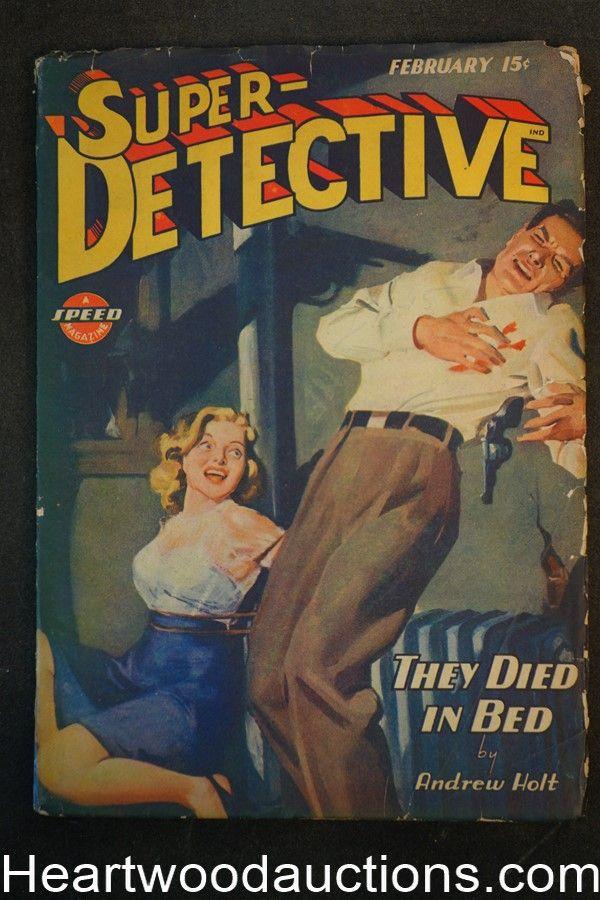 Super Detective Feb 1945 H.J. Ward Bondage Cover, Ray Cummings