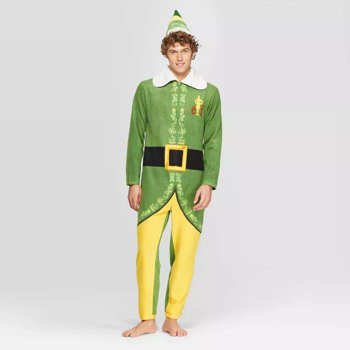 Men S Buddy The Elf Union Suit Green S Target Union Suit Buddy The Elf Mens Plaid Flannel