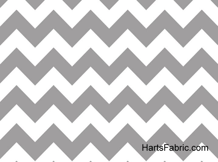 Grey Chevron Stripe Cotton Fabric