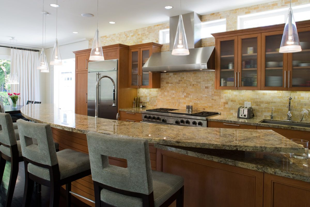 Kitchen With Honey Onyx Backsplash Kitchen Ideas