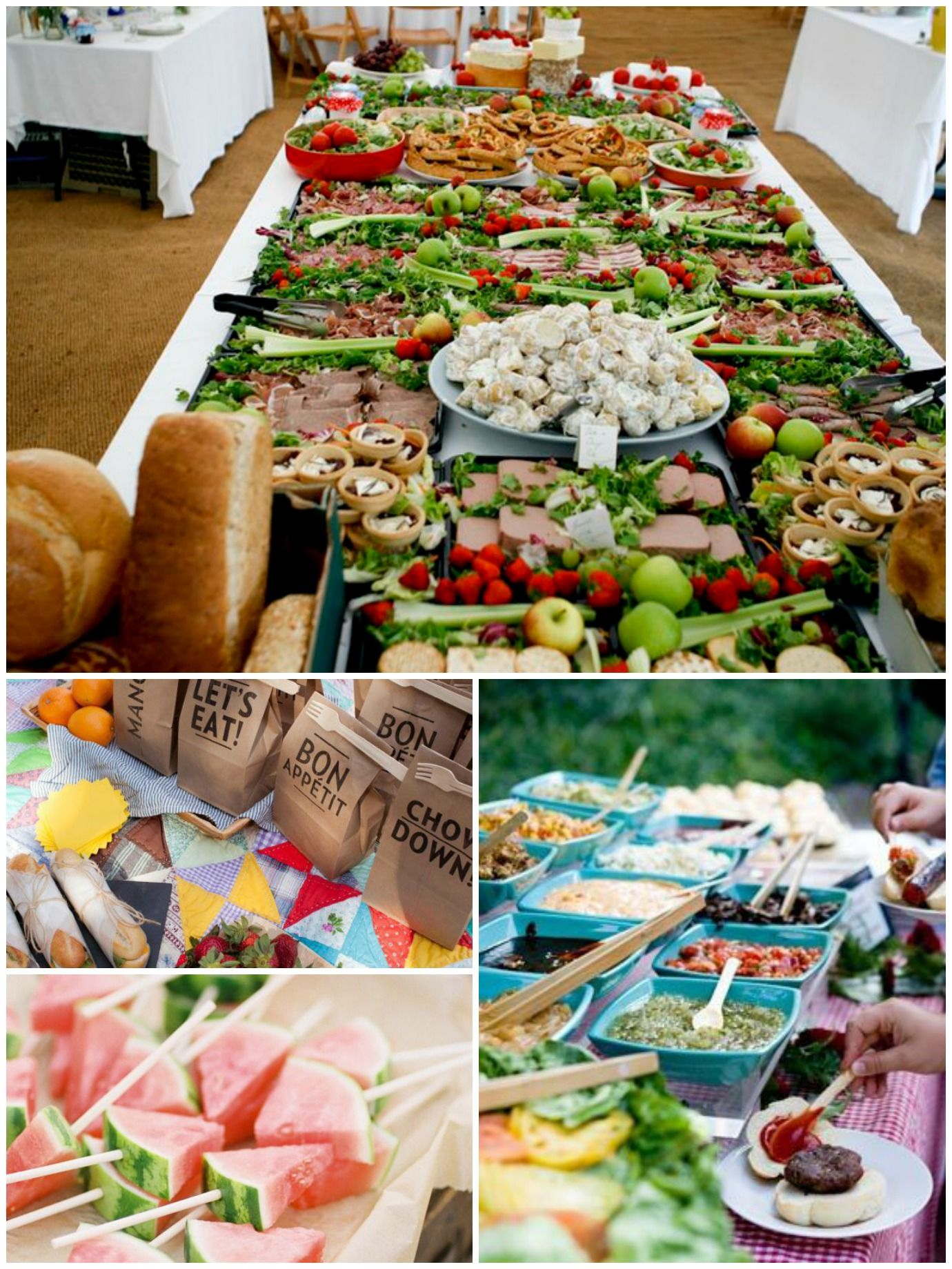 Are You Planning An Outdoor Or Picnic Wedding Why Not Serve The Food