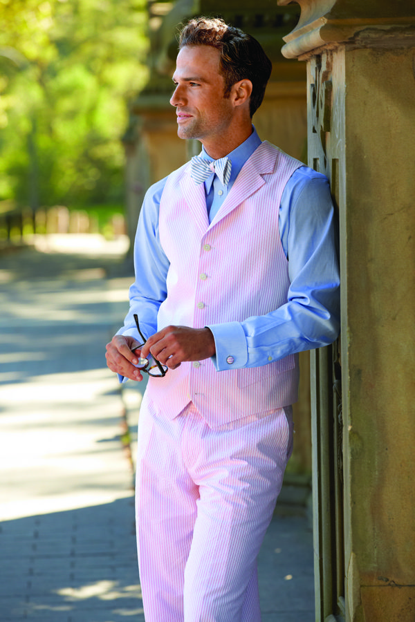 Paul Fredrick Great Looking Pink Vest And Trousers You