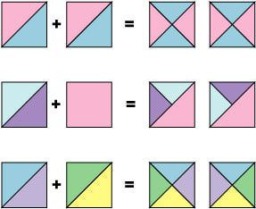 Quilt Patterns Quarter Square Triangles : It s Easy to Make Quick Pieced Quarter Square Triangle Units Triangles, Squares and Half ...