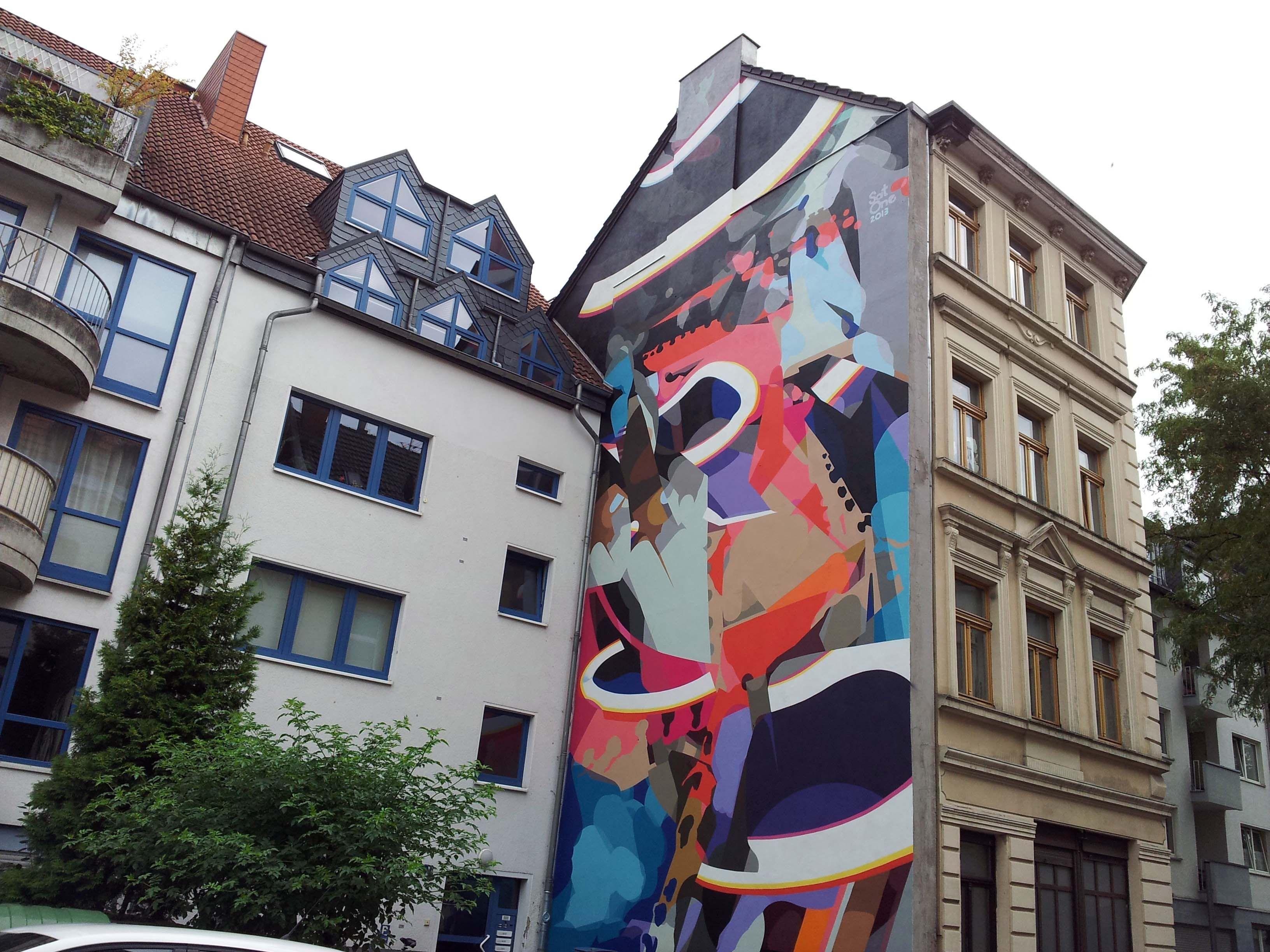 Künstler Köln cityleaks festival 2013 in köln merheimer straße 94 wandgemälde