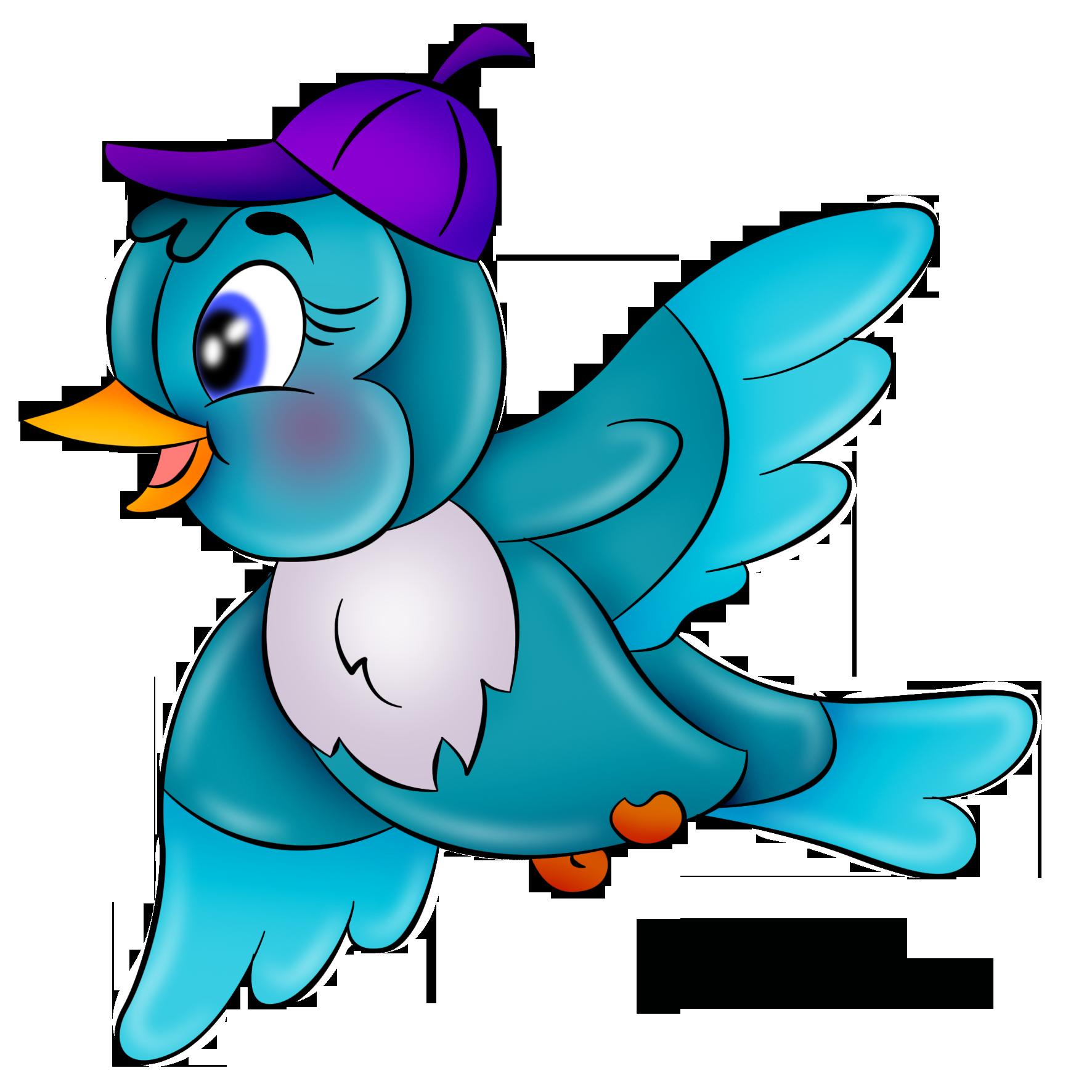 картинка птичка | Детские картинки, Мультяшные рисунки ...