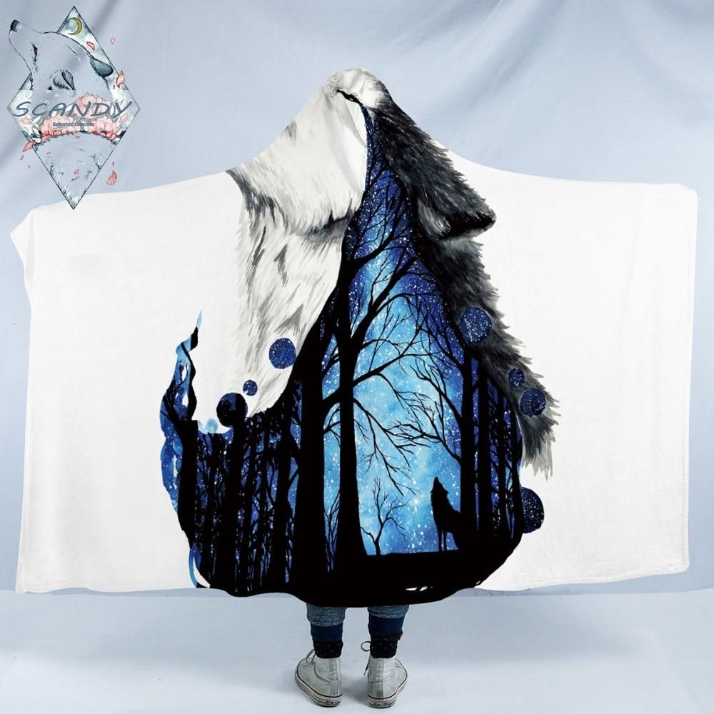 Zombie Hand Halloween Hooded Blanket Premium Sherpa